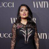 Salma Hayek en la alfombra de la fiesta de Vanity Fair 2018