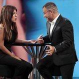Jorge Javier Vázquez durante su entrevista a Chabelita Pantoja en la tercera gala de 'Gran Hermano VIP 6'