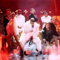 Brays Efe imitando a Bad Bunny  en la primera gala de 'Tu cara me suena 7'