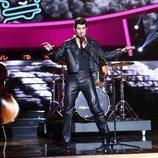 Carlos Baute imitando a Elvis Presley en la primera gala de 'Tu cara me suena 7'
