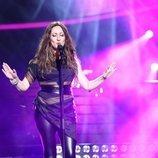 María Villalón imitando a Malú en la primera gala de 'Tu cara me suena 7'