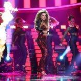 Mimi Doblas imitando a Eleni Foureira en la primera gala de 'Tu cara me suena 7'