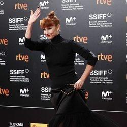 Najwa Nimri durante el Festival de San Sebastián 2018