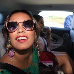 Gloria Camila llegando a la boda de José Ortega Cano y Ana María Aldón