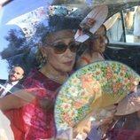 Rosa Benito llegando a la boda de José Ortega Cano y Ana María Aldón