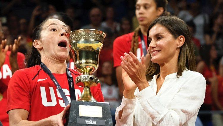 La Reina Letizia en la final de la Copa del Mundo de Baloncesto Femenino 2018