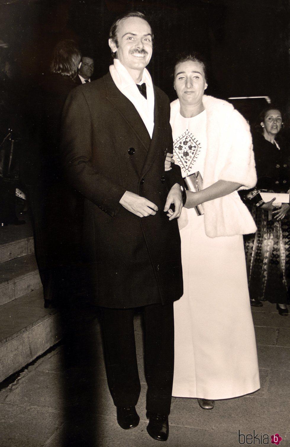 La Infanta Margarita y Carlos Zurita en los años 70