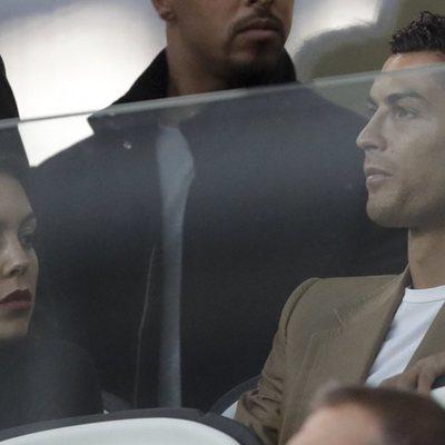 Georgina Rodríguez y Cristiano Ronaldo en un partido de la Juventus