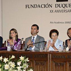 Los Príncipes de Asturias presiden el acto de 20º aniversario de la Fundación Duques de Soria