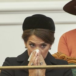 Mary de Dinamarca se suena la nariz en la Apertura del Parlamento