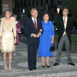 Los Duques de Soria y sus hijos en la boda de Fernando Gómez-Acebo y Mónica Martín Luque