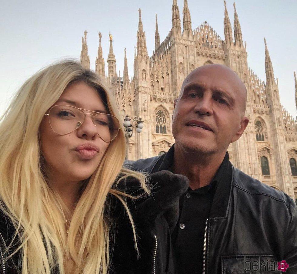 Kiko Matamoros y Anita Matamoros en Milán