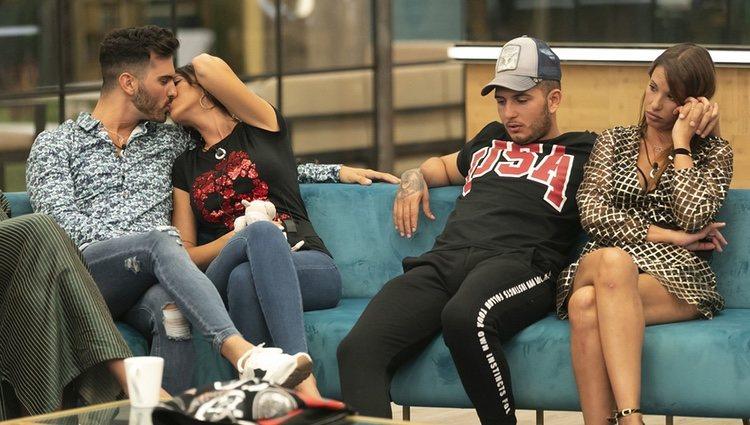 Suso Álvarez y Aurah Ruiz, Omar Montes y Techi en la casa 'GH VIP 6'