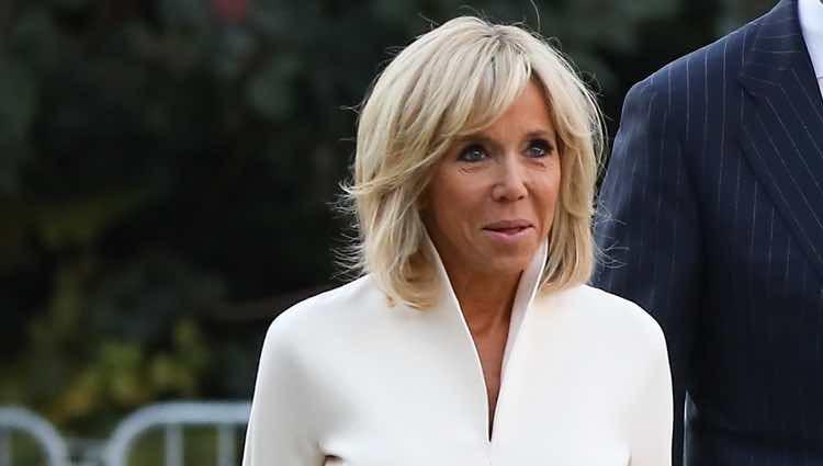 Brigitte Macron durante la visita a París de los Reyes Felipe y Letizia