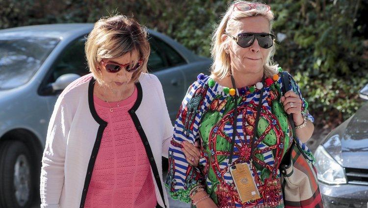Carmen Borrego y María Teresa Campos visitando a Terelu Campos tras la doble mastectomía