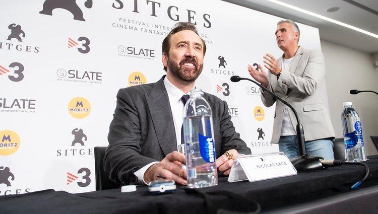 Nicolas Cage en la rueda de prensa del Festival de Cine Fantástico de Sitges 2018