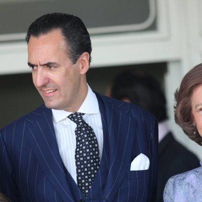La Reina Sofía y Jaime de Marichalar en la Comunión de Victoria Federica