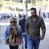 Carmen Borrego y Kike Calleja visitando a Terelu Campos dos días de su doble mastectomía