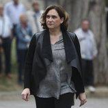 Ada Colau llegando al entierro de Montserrat Caballé