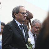 Quim Torra llegando al entierro de Montserrat Caballé
