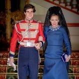 Fernando Fitz-James Stuart con Matilde Solís en su boda con Sofía Palazuelo
