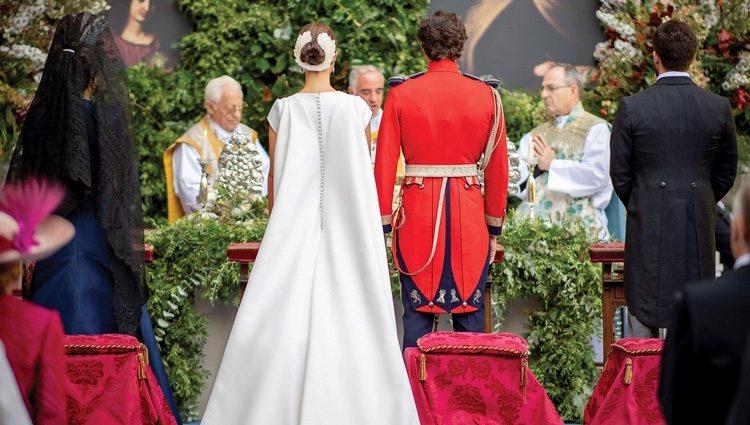 Los Duques de Huéscar en su boda