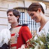 Fernando Fitz-James Stuart y Sofía Palazuelo, muy felices en su boda