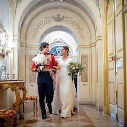 Fernando Fitz-James Stuart y Sofía Palazuelo el día de su boda