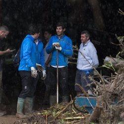 Rafa Nadal limpiando tras las inundaciones en Mallorca
