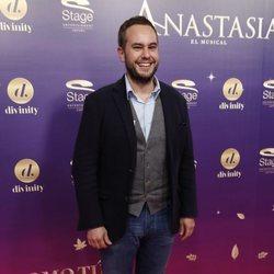 Jorge Blas en el estreno del musical 'Anastasia' en Madrid