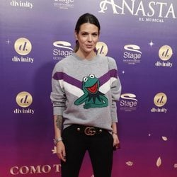 Laura Matamoros en el estreno del musical 'Anastasia' en Madrid