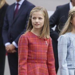 La Princesa Leonor llegando al desfile del Día de la Hispanidad 2018