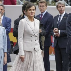 La Reina Letizia en el desfile del Día de la Hispanidad 2018