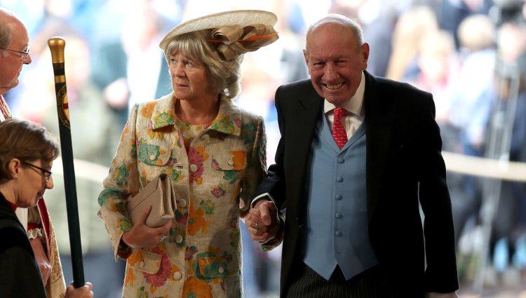 George y Nicola Brooksbank en la boda de Eugenia de York y Jack Brooksbank
