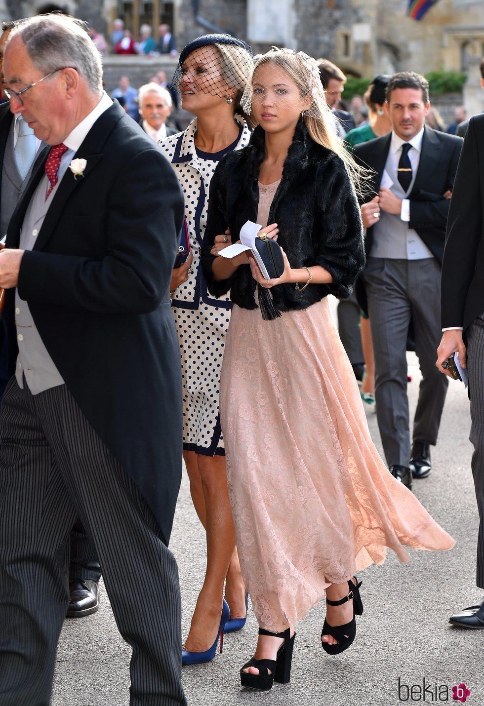 Kate Moss y Lila Grace en la boda de Eugenia de York y Jack Brooksbank