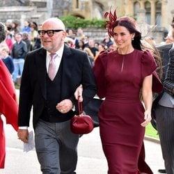 Demi Moore en la boda de Eugenia de York y Jack Brooksbank