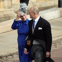 Zara Phillips y Mike Tindall en la boda de Eugenia de York y Jack Brooksbank
