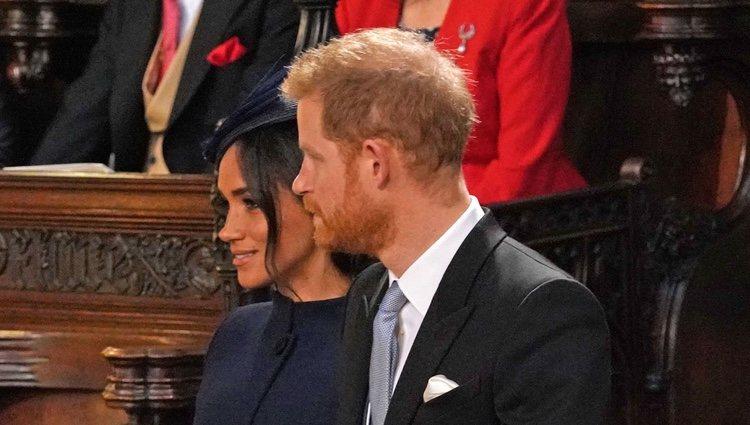 Los Duques de Sussex en la boda de Eugenia de York y Jack Brooksbank