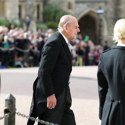El Duque de Edimburgo en la boda de Eugenia de York y Jack Brooksbank