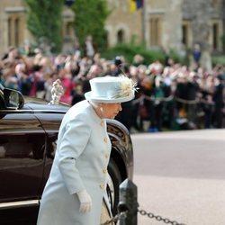 La Reina Isabel en la boda de Eugenia de York y Jack Brooksbank