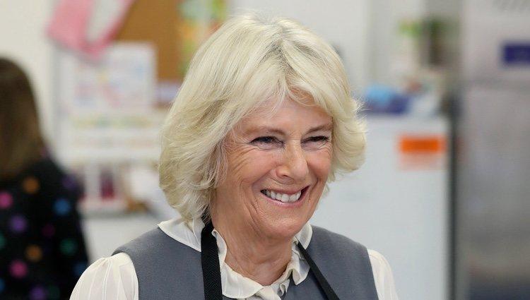 La Duquesa de Cornualles visitando un colegio en Escocia