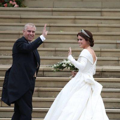 Eugenia de York llega a su boda con el Duque de York