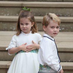 El Príncipe Jorge y la Princesa Carlota en la boda de Eugenia de York y Jack Brooksbank
