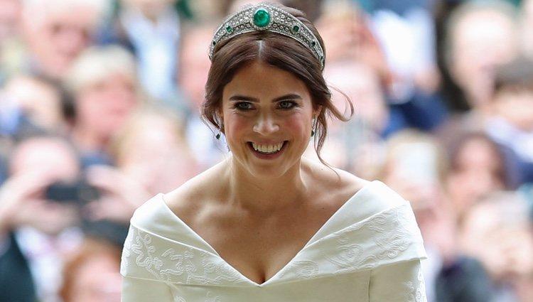 Eugenia de York a su llegada a su boda
