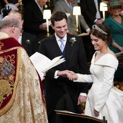 Eugenia de York pronuncia sus votos hacia Jack Brooksbank en su boda
