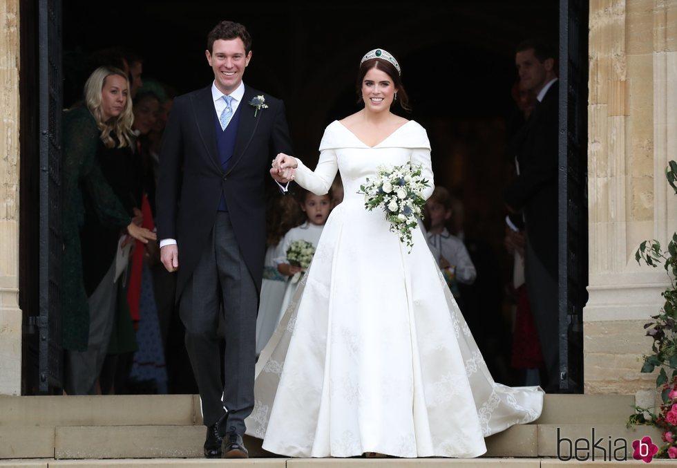 Eugenia de York y Jack Brooksbank en su boda