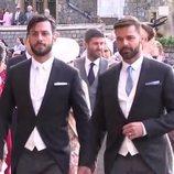 Ricky Martin y Jwan Yosef en la boda de Eugenia de York y Jack Brooksbank