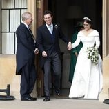 Eugenia de York y Jack Brooksbank camino de The Royal Lodge en su boda
