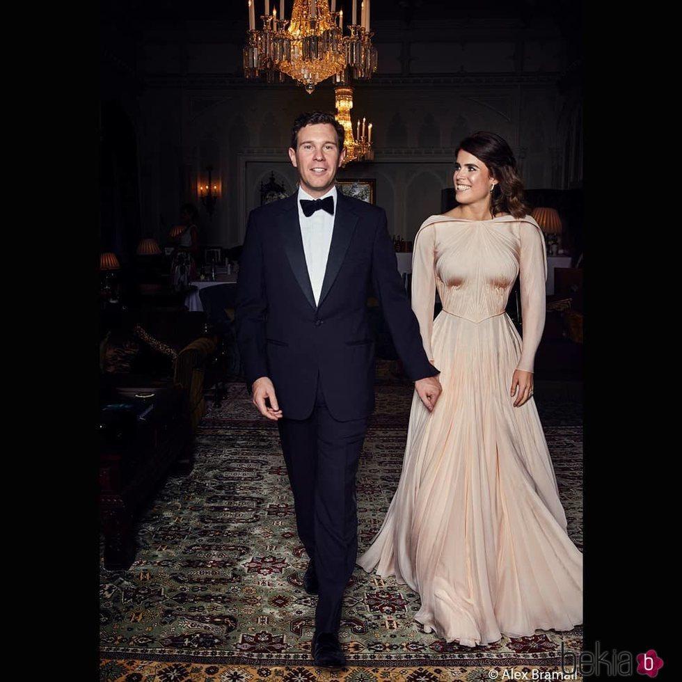 Eugenia de York y Jack Brooksbank en la fiesta de su boda
