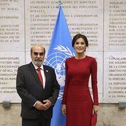 La Reina Letizia con el Director General de la FAO
